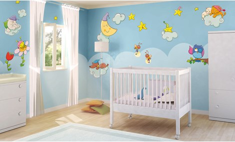 Adesivi murali pianeti stickers e decorazioni leostickers - Decorazioni murali per camerette bambini ...